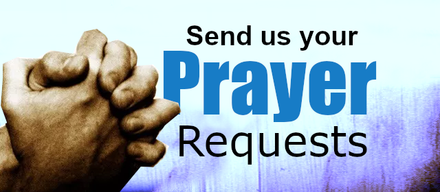 Send us your prayer requests – James Ogden Ministries